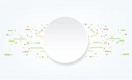 Αφηρημένο τεχνολογικό υπόβαθρο με τα διάφορα τεχνολογικά στοιχεία Στοκ Εικόνα