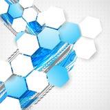 Αφηρημένο τεχνολογικό υπόβαθρο με το διάφορο τεχνολογικό ele Στοκ Εικόνες