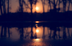 Αφηρημένο τοπίο ηλιοβασιλέματος Στοκ Φωτογραφίες