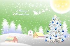 Αφηρημένο τοπίο χιονιού με το λυρικό σχέδιο φύσης - διανυσματικό eps10 διανυσματική απεικόνιση