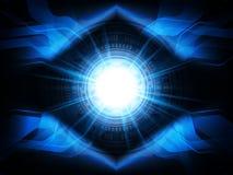 Αφηρημένο τρισδιάστατο υπόβαθρο έννοιας τεχνολογίας επίσης corel σύρετε το διάνυσμα απεικόνισης Στοκ Εικόνες