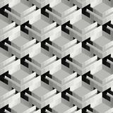 Αφηρημένο τρισδιάστατο υπόβαθρο κατασκευής γκρίζος και μαύρος διανυσματική απεικόνιση