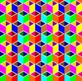 Αφηρημένο τρισδιάστατο υπόβαθρο σχεδίων κιβωτίων κύβων διανυσματική απεικόνιση