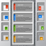 Αφηρημένο τρισδιάστατο έγγραφο Infographics Στοκ Φωτογραφίες