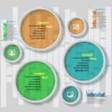 Αφηρημένο τρισδιάστατο έγγραφο Infographics Στοκ εικόνα με δικαίωμα ελεύθερης χρήσης