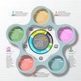 Αφηρημένο τρισδιάστατο έγγραφο Infographics Στοκ φωτογραφία με δικαίωμα ελεύθερης χρήσης
