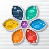 Αφηρημένο τρισδιάστατο έγγραφο Infographics Στοκ Εικόνα