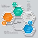 Αφηρημένο τρισδιάστατο έγγραφο Infographics Στοκ Φωτογραφία