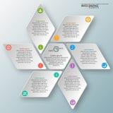 Αφηρημένο τρισδιάστατο έγγραφο Infographics Στοκ Εικόνες
