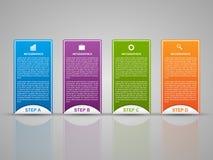 Αφηρημένο τρισδιάστατο πρότυπο infographics επιχειρησιακών επιλογών Στοκ Εικόνες