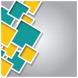 Αφηρημένο τρισδιάστατο τετραγωνικό υπόβαθρο, ζωηρόχρωμα κεραμίδια, γεωμετρικά Στοκ Εικόνα