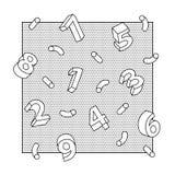 Αφηρημένο τρισδιάστατο υπόβαθρο τέχνης γραμμών αριθμών Στοκ φωτογραφίες με δικαίωμα ελεύθερης χρήσης
