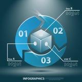 Αφηρημένο τρισδιάστατο Infographics Διανυσματική απεικόνιση για την επιχειρησιακή παρουσίασή σας Στοκ Εικόνες