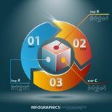Αφηρημένο τρισδιάστατο Infographics Διανυσματική απεικόνιση για την επιχειρησιακή παρουσίασή σας Στοκ εικόνα με δικαίωμα ελεύθερης χρήσης