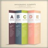 Αφηρημένο τρισδιάστατο infographics εγγράφου διανυσματική απεικόνιση