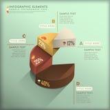 Αφηρημένο τρισδιάστατο infographics διαγραμμάτων πιτών ελεύθερη απεικόνιση δικαιώματος