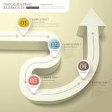 Αφηρημένο τρισδιάστατο infographics διαγραμμάτων ροής διανυσματική απεικόνιση