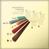 Αφηρημένο τρισδιάστατο infographics κυλίνδρων διανυσματική απεικόνιση