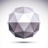 Αφηρημένο τρισδιάστατο polygonal αντικείμενο origami, διανυσματικό γεωμετρικό σχέδιο EL Στοκ Εικόνες
