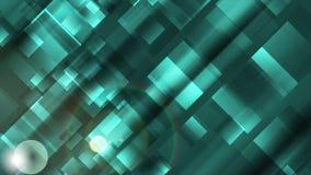 Αφηρημένο τυρκουάζ βιντεοκλίπ τετραγώνων τεχνολογίας γεωμετρικό απεικόνιση αποθεμάτων