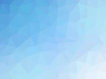 Αφηρημένο τυρκουάζ μπλε χαμηλό διαμορφωμένο πολύγωνο υπόβαθρο κλίσης Στοκ Εικόνες