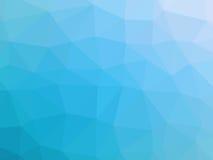 Αφηρημένο τυρκουάζ μπλε χαμηλό διαμορφωμένο πολύγωνο υπόβαθρο κλίσης Στοκ φωτογραφία με δικαίωμα ελεύθερης χρήσης