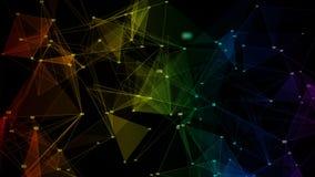 Αφηρημένο τυχαίο ψηφιακό δίκτυο δεδομένων ουράνιων τόξων υποβάθρου ζωηρόχρωμο ιριδίζον απόθεμα βίντεο