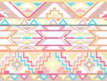αφηρημένο των Αζτέκων γεωμετρικό πρότυπο άνευ ραφής ελεύθερη απεικόνιση δικαιώματος