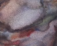 Αφηρημένο υγρό γκρίζο, μπλε και μαύρο υπόβαθρο Watercolor με τους λεκέδες Πλύσιμο Watercolor διανυσματική απεικόνιση