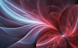 Αφηρημένο υπερφυσικό υπόβαθρο με το κόκκινο λουλούδι ελεύθερη απεικόνιση δικαιώματος