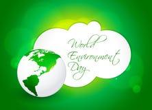 Αφηρημένο υπόβαθρο έννοιας ημέρας παγκόσμιου περιβάλλοντος, Στοκ Εικόνες