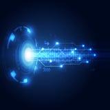 Αφηρημένο υπόβαθρο έννοιας τεχνολογίας, διανυσματική απεικόνιση Στοκ Εικόνα