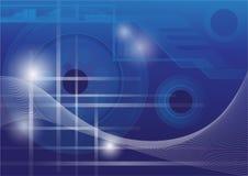 Αφηρημένο υπόβαθρο έννοιας τεχνολογίας, διανυσματική απεικόνιση Στοκ Εικόνες