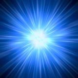 Αφηρημένο υπόβαθρο - ακτίνες του ζωηρόχρωμου φωτός Στοκ Φωτογραφία