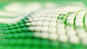 Αφηρημένο υπόβαθρο απεικόνισης, διπλωμένα, κυματιστά, πράσινα, άσπρα κιβώτια, τρισδιάστατη απόδοση απεικόνιση αποθεμάτων