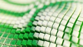 Αφηρημένο υπόβαθρο απεικόνισης, διπλωμένα, κυματιστά, πράσινα, άσπρα κιβώτια, τρισδιάστατη απόδοση διανυσματική απεικόνιση