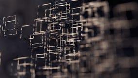 Αφηρημένο υπόβαθρο απεικόνισης, καφετί, τετράγωνα, στην άσπρη τρισδιάστατη απόδοση υποβάθρου ελεύθερη απεικόνιση δικαιώματος