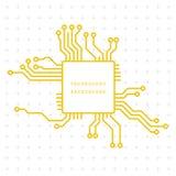 Αφηρημένο υπόβαθρο απεικόνισης μητρικών καρτών τεχνολογίας Στοκ Φωτογραφία