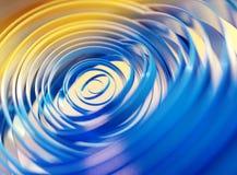 Αφηρημένο υπόβαθρο απεικόνισης, μπλε, κίτρινο, κύκλοι, τροχιές, τρισδιάστατη απόδοση απεικόνιση αποθεμάτων