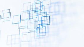 Αφηρημένο υπόβαθρο απεικόνισης, μπλε, τετράγωνα, στην άσπρη τρισδιάστατη απόδοση υποβάθρου ελεύθερη απεικόνιση δικαιώματος