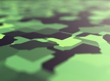 Αφηρημένο υπόβαθρο απεικόνισης, πράσινο, κάλυψη, τρισδιάστατη απόδοση απεικόνιση αποθεμάτων