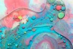 Αφηρημένο υπόβαθρο από τα χρώματα και το πετρέλαιο στοκ φωτογραφία με δικαίωμα ελεύθερης χρήσης