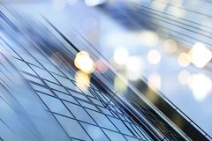 Αφηρημένο υπόβαθρο αρχιτεκτονικής επιχειρησιακών σύγχρονο πόλεων αστικό φουτουριστικό Έννοια ακίνητων περιουσιών, θαμπάδα κινήσεω Στοκ φωτογραφία με δικαίωμα ελεύθερης χρήσης