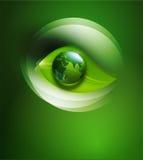 Αφηρημένο υπόβαθρο για το οικολογικό σχέδιο με ένα φύλλο, α Στοκ Εικόνα