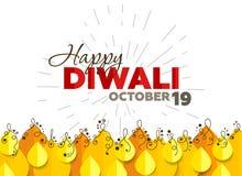 Αφηρημένο υπόβαθρο για Diwali απεικόνιση αποθεμάτων
