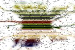 Αφηρημένο αφηρημένο υπόβαθρο γραμμών φυσαλίδων μπλε ρόδινο άσπρο αντιπαραβαλλόμενο Στοκ Εικόνες