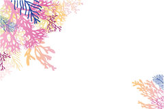 Αφηρημένο υπόβαθρο γωνιών φυκιών watercolor διανυσματική απεικόνιση