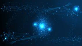 Αφηρημένο υπόβαθρο δομών δικτύων τεχνολογίας Φουτουριστική πλεγμάτων επίδρασης δομή σύνδεσης υπολογιστών γεωμετρική διανυσματική απεικόνιση