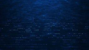 Αφηρημένο υπόβαθρο δυαδικού κώδικα τεχνολογίας Τυχαία ψηφιακά δυαδικά στοιχεία αριθμών και ασφαλή στοιχεία απεικόνιση αποθεμάτων