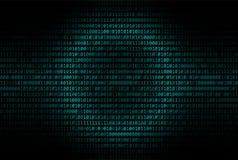 Αφηρημένο υπόβαθρο δυαδικού κώδικα, ψηφιακή επικοινωνία ελεύθερη απεικόνιση δικαιώματος